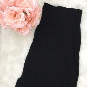 Black Maxi Skirt w/ Side Slits